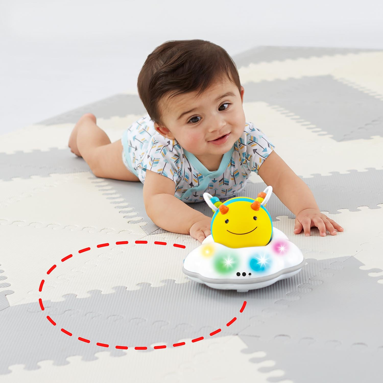 Yellow 303108-US Skip Hop Explore /& More Follow-Me Bee Crawl Toy