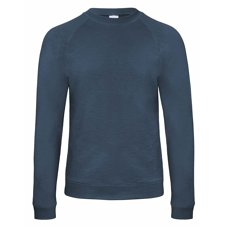 B/&C Denim Mens Starlight Raglan Slub Sweatshirt