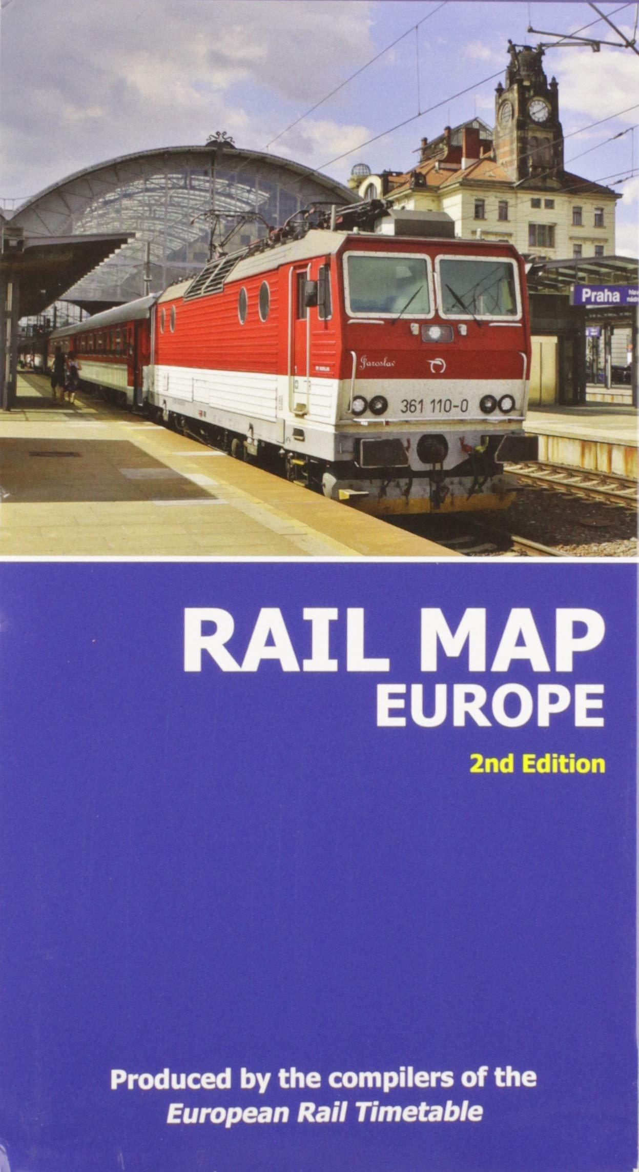 Rail Map of Europe: 2nd Edition: Amazon.co.uk: European Rail ...
