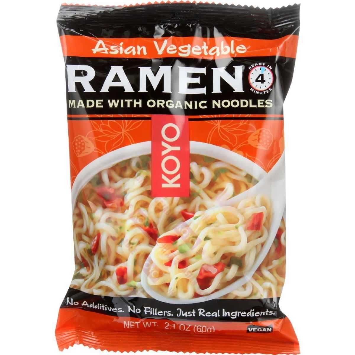 Koyo Asian Vegetable Ramen, 2.1-Ounce Packages (Pack of 12)