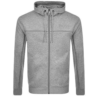 c195f603e Grey Mens HUGO BOSS Green Saggy Full Zip Hoodie Grey - Large: Amazon.co.uk:  Clothing