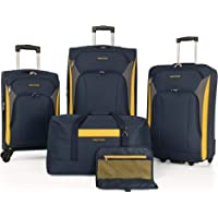 5-Piece Nautica Oceanview Luggage Set (Navy/Red)
