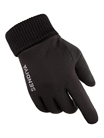 0993835cfff Zando Women s Screen Gloves Warm Lined Thick Touch Warmer Winter Gloves For  Women Black L