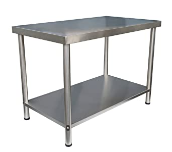 Acero inoxidable mesa de trabajo Gastro - Mesa de cocina de ...
