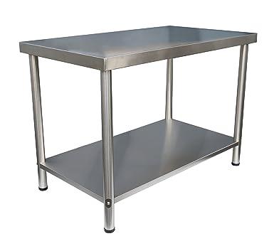 Edelstahl Arbeitstisch Gastro Tisch Edelstahltisch Küchentisch ...