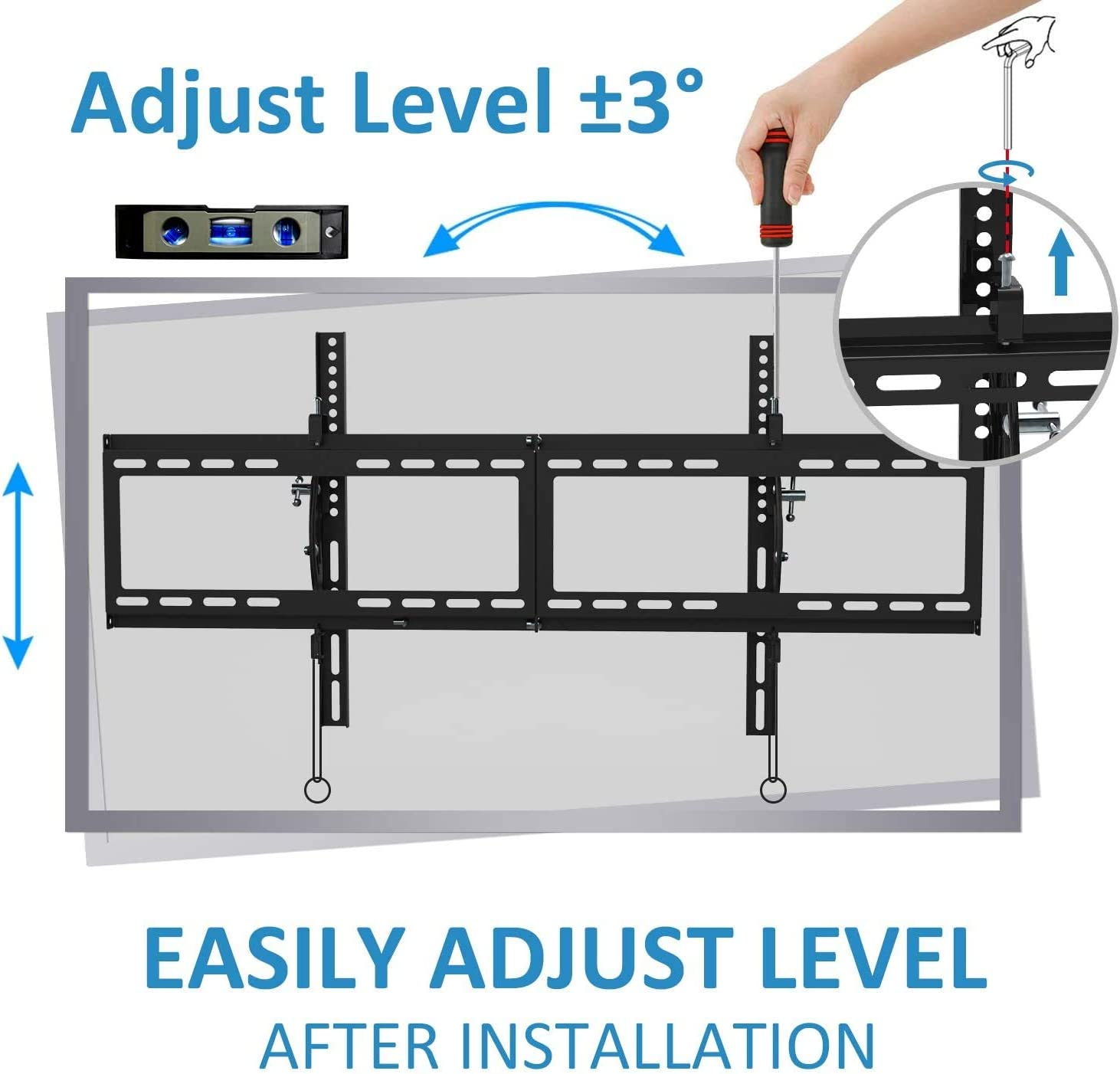 BLUE STONE TV Wall Mount Bracket Tilt Low Profile for Most 40-90 inch with Max VESA 800x400mm Holds up to 165lbs and Fits 16