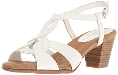 A2 by Aerosoles Women's Base Level Dress Sandal, White Snake, ...