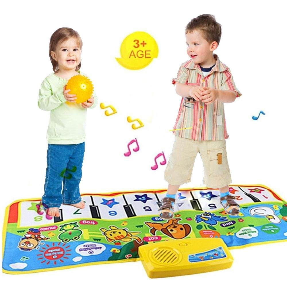 TEEPAO Baby Musical Carpet Mat, Touch Play Keyboard Carpet Animal Music Mat Christmas Gift for Kid