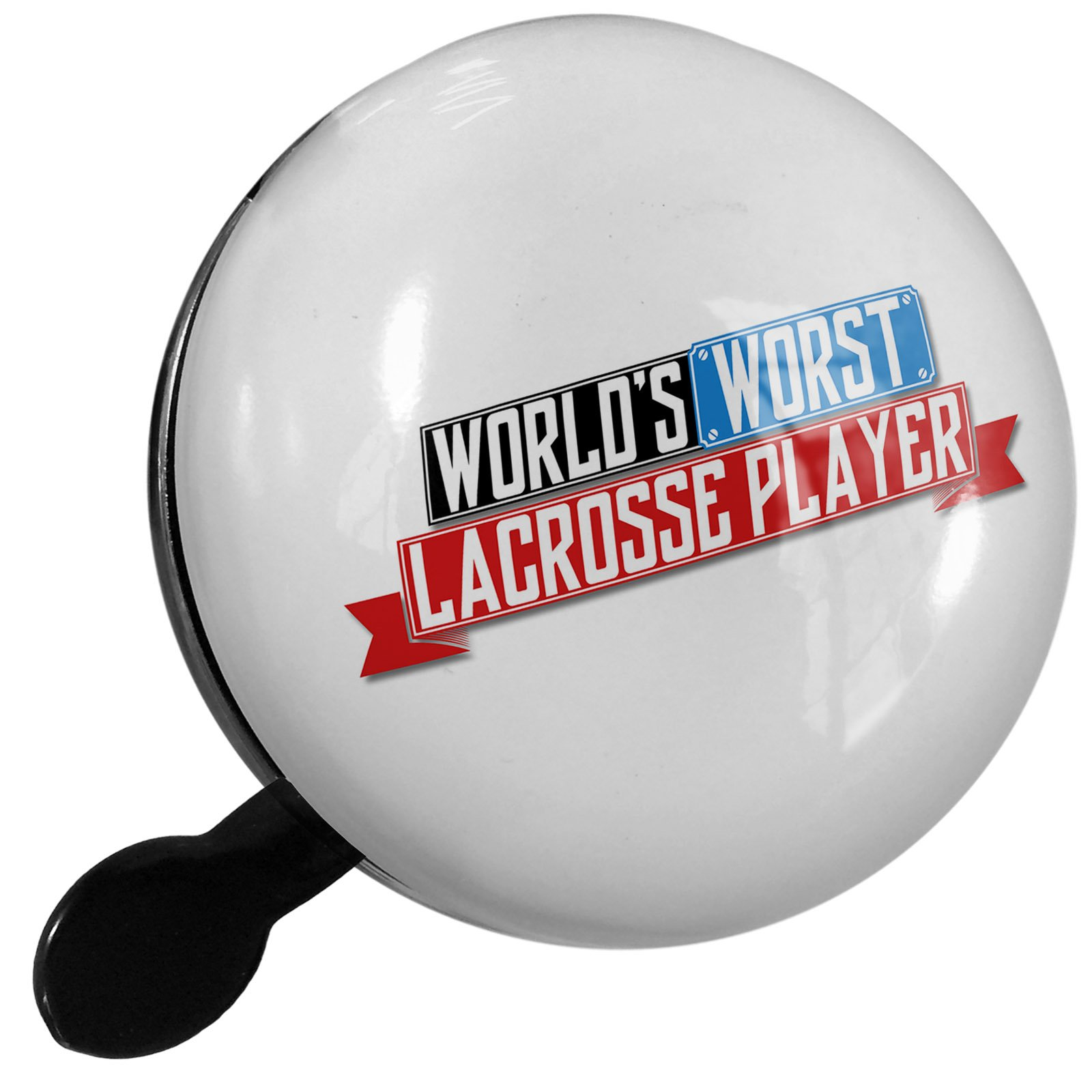 Small Bike Bell Funny Worlds worst Lacrosse Player - NEONBLOND