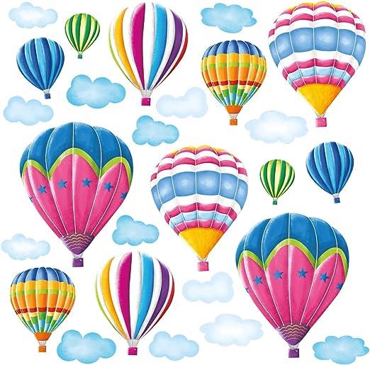 Decowall globos de aire caliente Vivero Niños Extraíble Pegatinas De Pared Calcomanía DW-1301AC
