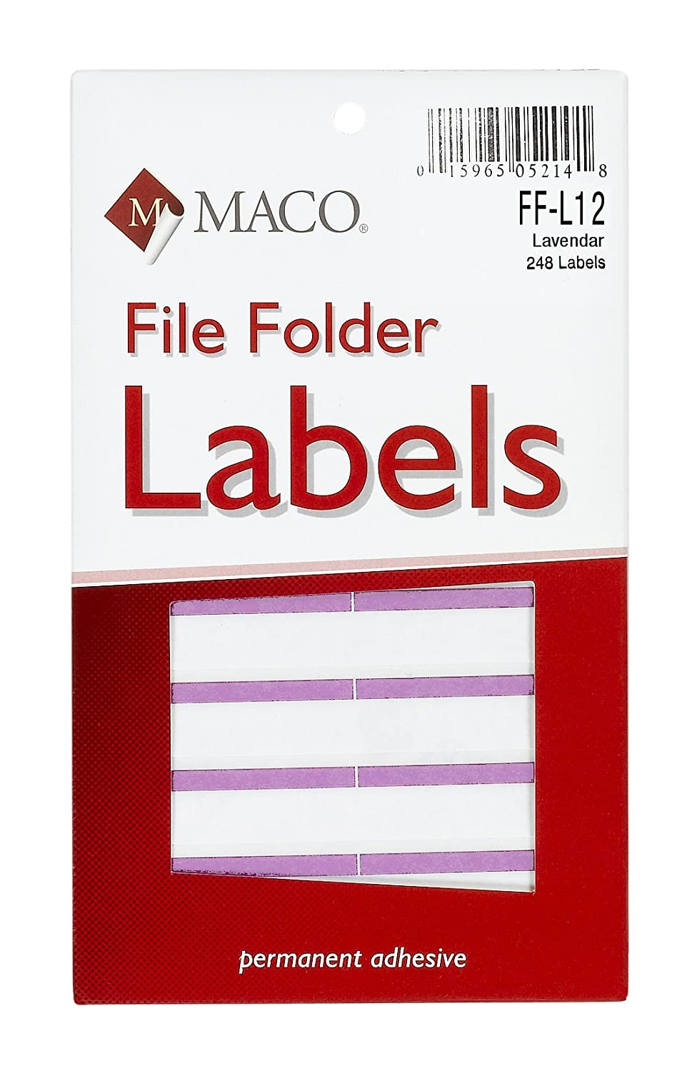 Amazon Maco Lavender File Folder Labels 916 X 3 716 Inches