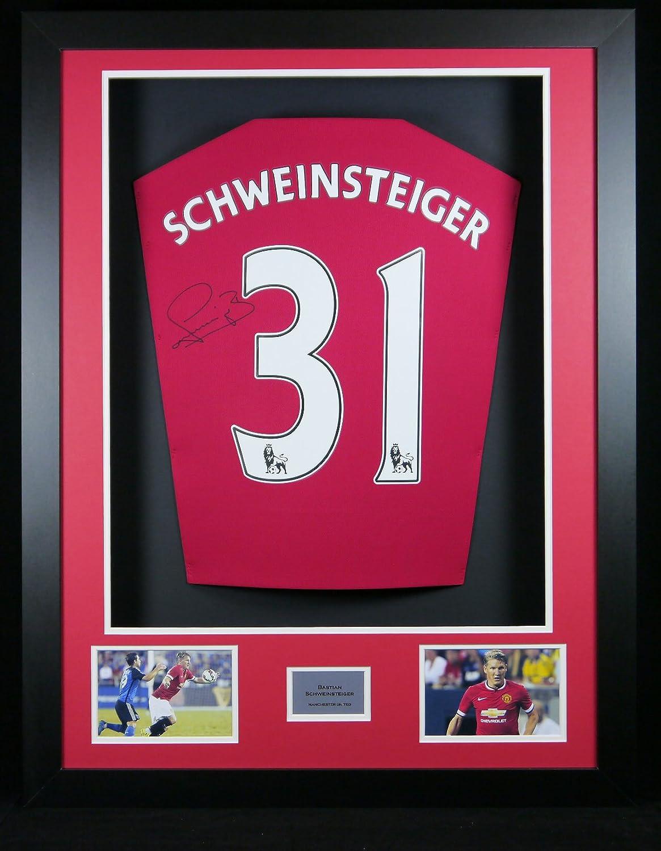 Bastian Schweinsteiger signierter Manchester United Shirt 3D gerahmt Display mit Echtheitszertifikat FMS