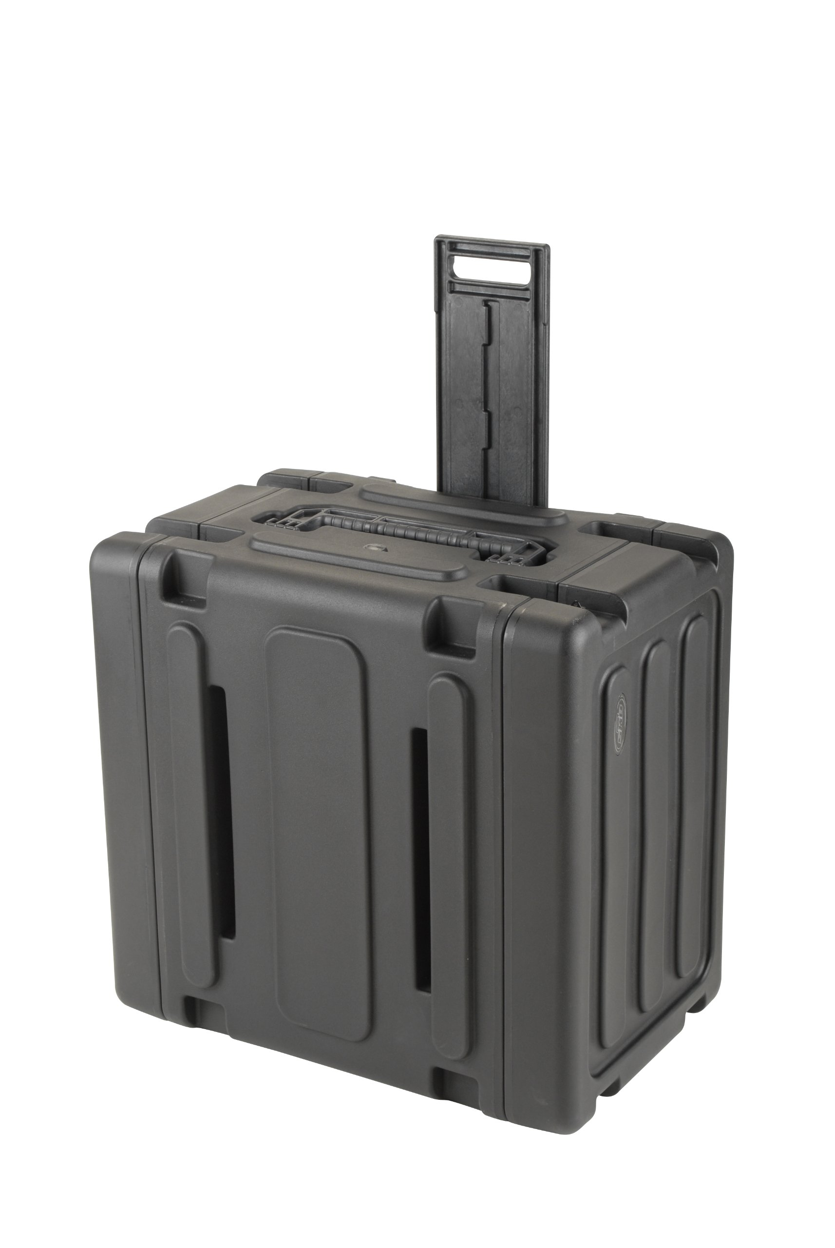 SKB 6U Shock Mount Rack, with Wheels, Handle, TSA Trigger Latches
