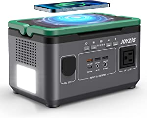 Joyzis 296Wh Portable Power Station, 296Wh 80000mAh Backup Lithium Battery with LED light,Pure Sine Wave AC Outlet,PD 60W, Solar Generator for Outdoor RV/Van Camping, Emergency, CPAP, Phone