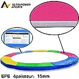 Coussin de protection ressorts trampoline 305cm - Largeur de 30cm - Multicolore ( Bleu, Rose, Vert, Jaune )