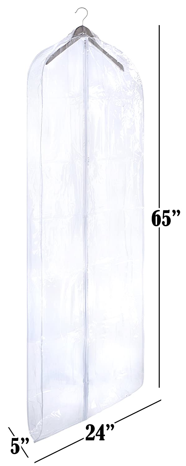 Protect Your Clothing While Traveling and Dust Free While Hanging in Your Closet Suits Handy Laundry 5418 Clear Vinyl Garment Bag Dresses or Gowns Set of 2 24 X 42 Inches These Garment Bags are Ideal for Coats