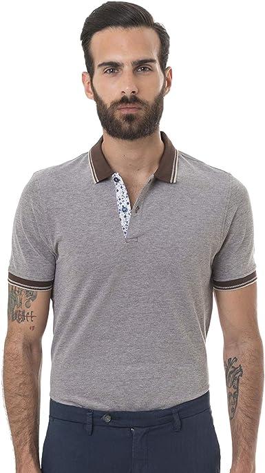 Hitch Man - Polo para Hombre de algodón Tabaco S: Amazon.es ...