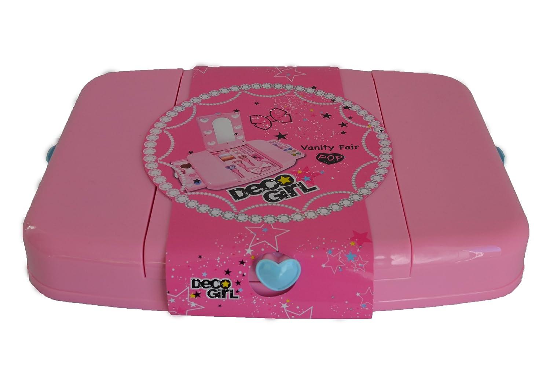 VANITY FAIR! PINK BEAUTY CASE WITH LIGHTS! LITTLE GIRL MAKEUP XMAS GIFT  SET!: Amazon.co.uk: Beauty