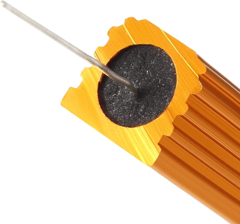 YUNB 2 Piezas LED convertidor de Repuesto 5W10RJ Resistencia de Caja de Aluminio 5W 10 Ohm Wirewound