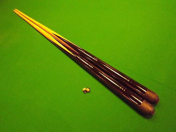 IQ Pool - Par de tacos de billar (91,4 cm) y 4 tizas azules ...