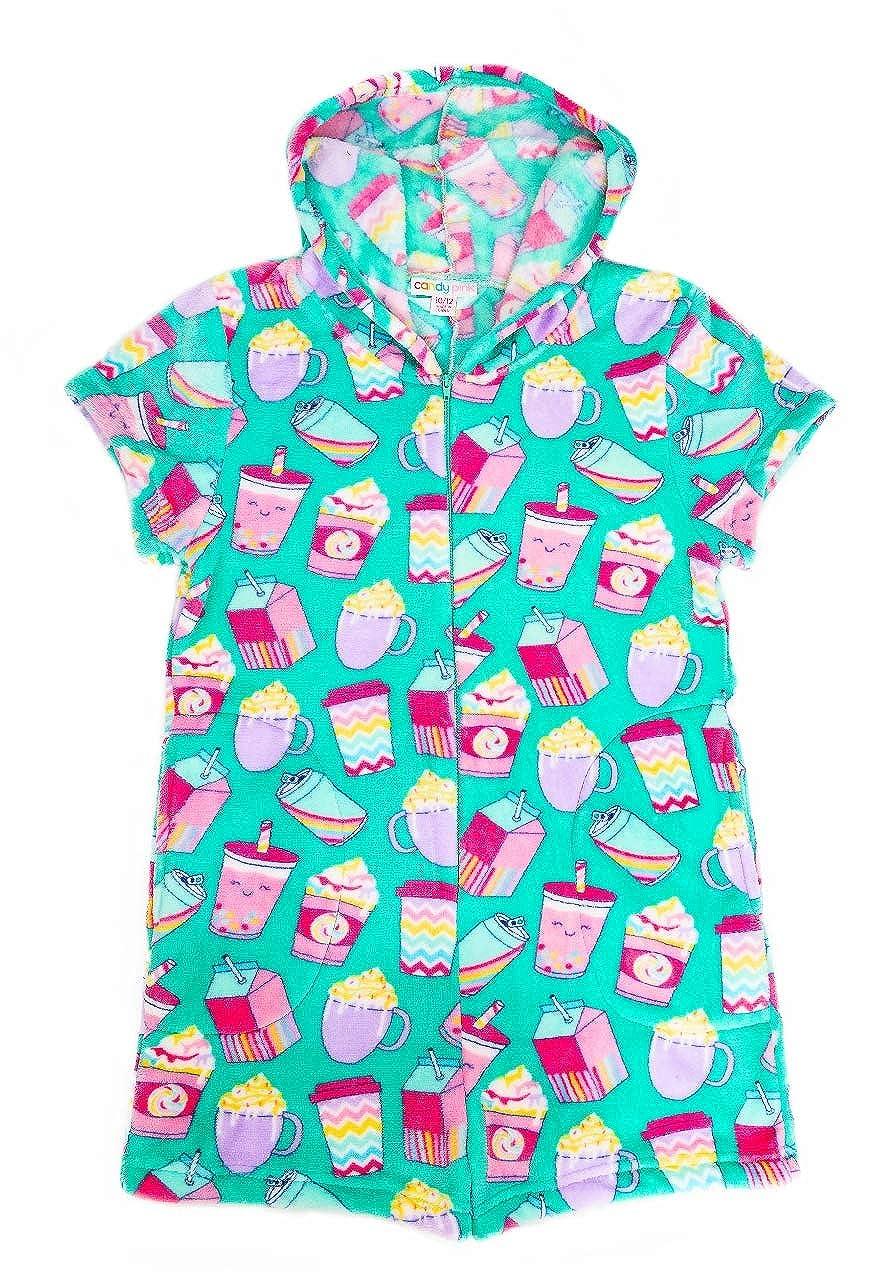 Candy Pink Girls Plush Premium Fuzzy Fleece Romper