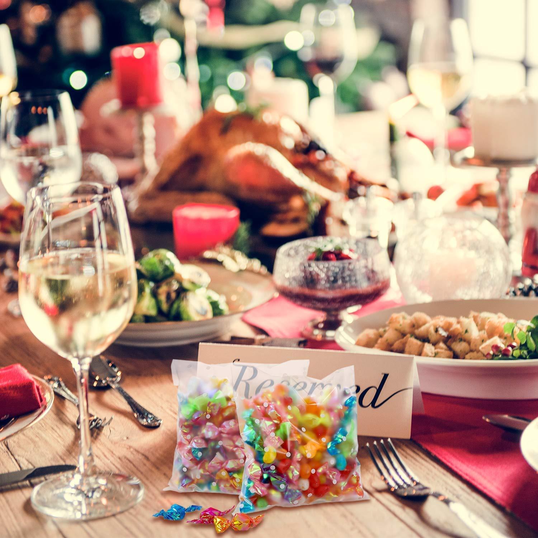 WENTS 200Pcs Caramella Borsa Auto Adesivo Trattare Sacchett Biscotti Sacchetti OPP Sacchetto Regalo Biscotto Cioccolato Caramelle Regalo Sacchetti Festa Favore Borsa Pois Bianco Sacchetti