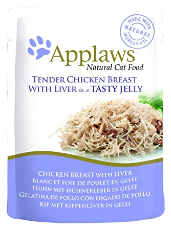Applaws - Comida humeda para Gatos Gato Jelly Pouch Pollo y higado 70 gr: Amazon.es: Productos para mascotas
