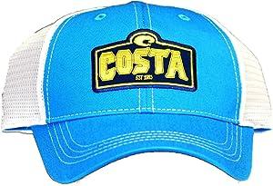 Costa Del Mar Twill with White Mesh Trucker Hat