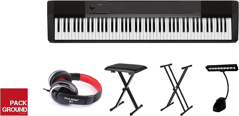 Casio CDP-130BK - Piano digital portátil con pack completo de accesorios: Amazon.es: Instrumentos musicales