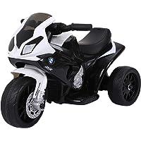 Homcom Moto électrique pour Enfants 3 Roues 6 V 2,5 Km/h Effets Lumineux et sonores Noir BMW S1000 RR