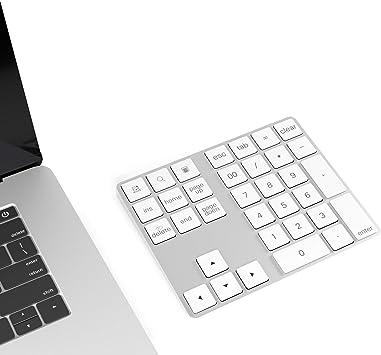 Cateck Teclado numérico Bluetooth con múltiples accesos directos Teclado numérico de 34 Teclas Teclado numérico Delgado inalámbrico portátil para ...