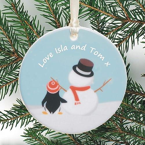 Amazon Com Personalized Ceramic Keepsake Hanging Christmas Tree