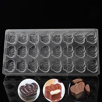Invitación de boda chocolate moldes, princesa corona forma Chocolate molde, policarbonato plástico boda Candy