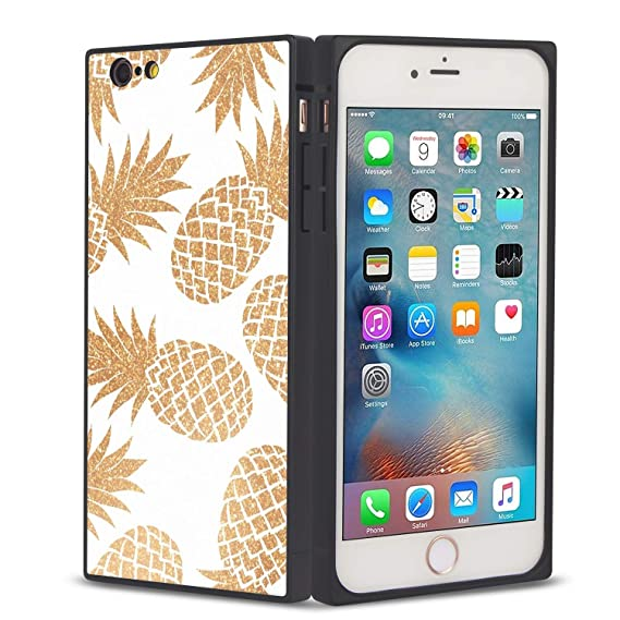 amazon com stylish cover square case for iphone 6 6s shockproofimage unavailable image not available for color stylish cover square case for iphone 6 6s shockproof customized golden pineapple elegant design phone