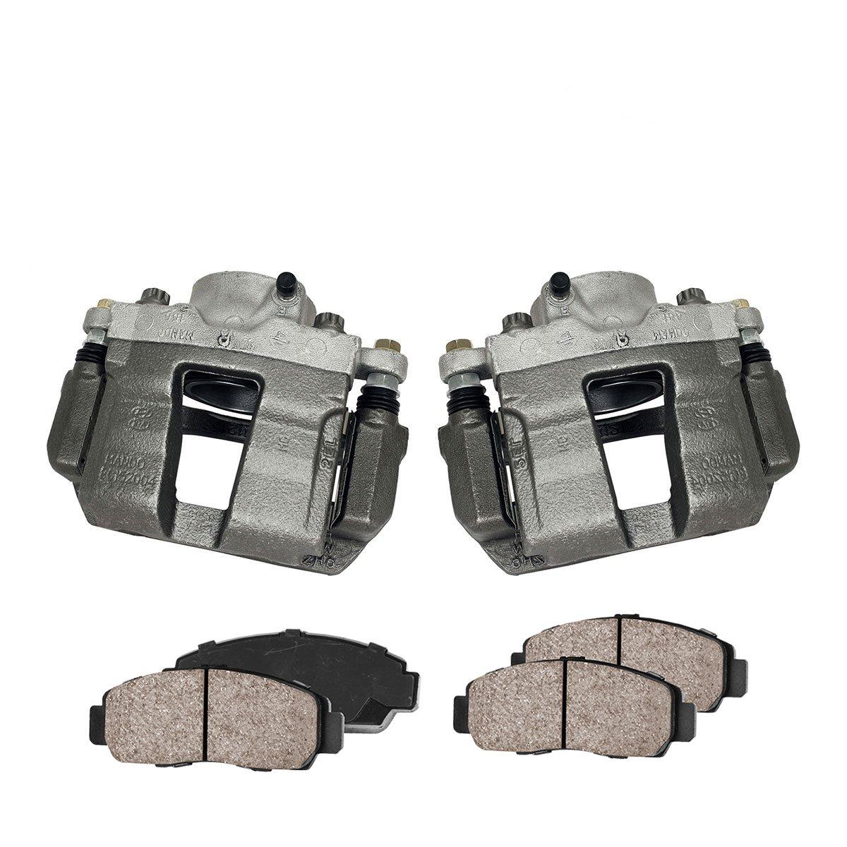 Callahan CCK03594 FRONT Premium Loaded OE Caliper Pair + Ceramic Brake Pads + Hardware Kit Callahan Brake Parts