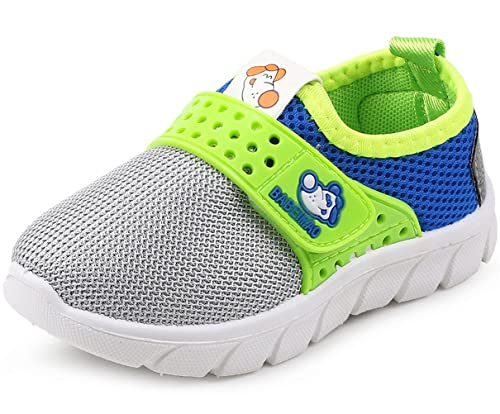 585d16a06a685c DADAWEN Baby s Boy s Girl s Breathable Strap Light Weight Casual Sneakers  Running Shoes Gray US Size 11.5