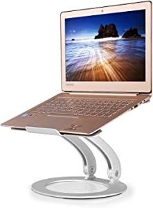 Laptop Stand,JZBRAIN Elevated Computer Stand for Desk Ergonomic Aluminum Angle Height Adjustable Laptop Riser Holder up to 17.3 inches, Compatible for MacBook Pro/Air, Surface Supports Up to 44 Lbs