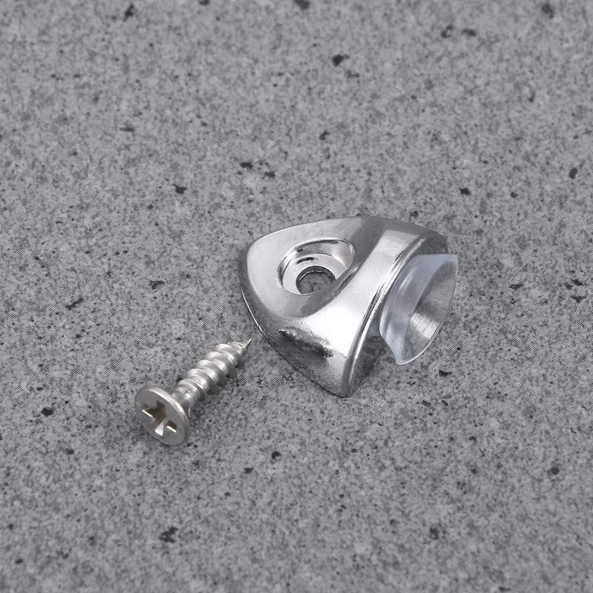 Yardwe 20 ST/ÜCKE Metall regaltr/äger Regal Bracket Pegs Glasregal Halterung Pegs Zink-Legierung Regal Pins Montage Brace Glasregale Unterst/ützung Pegs mit Schrauben