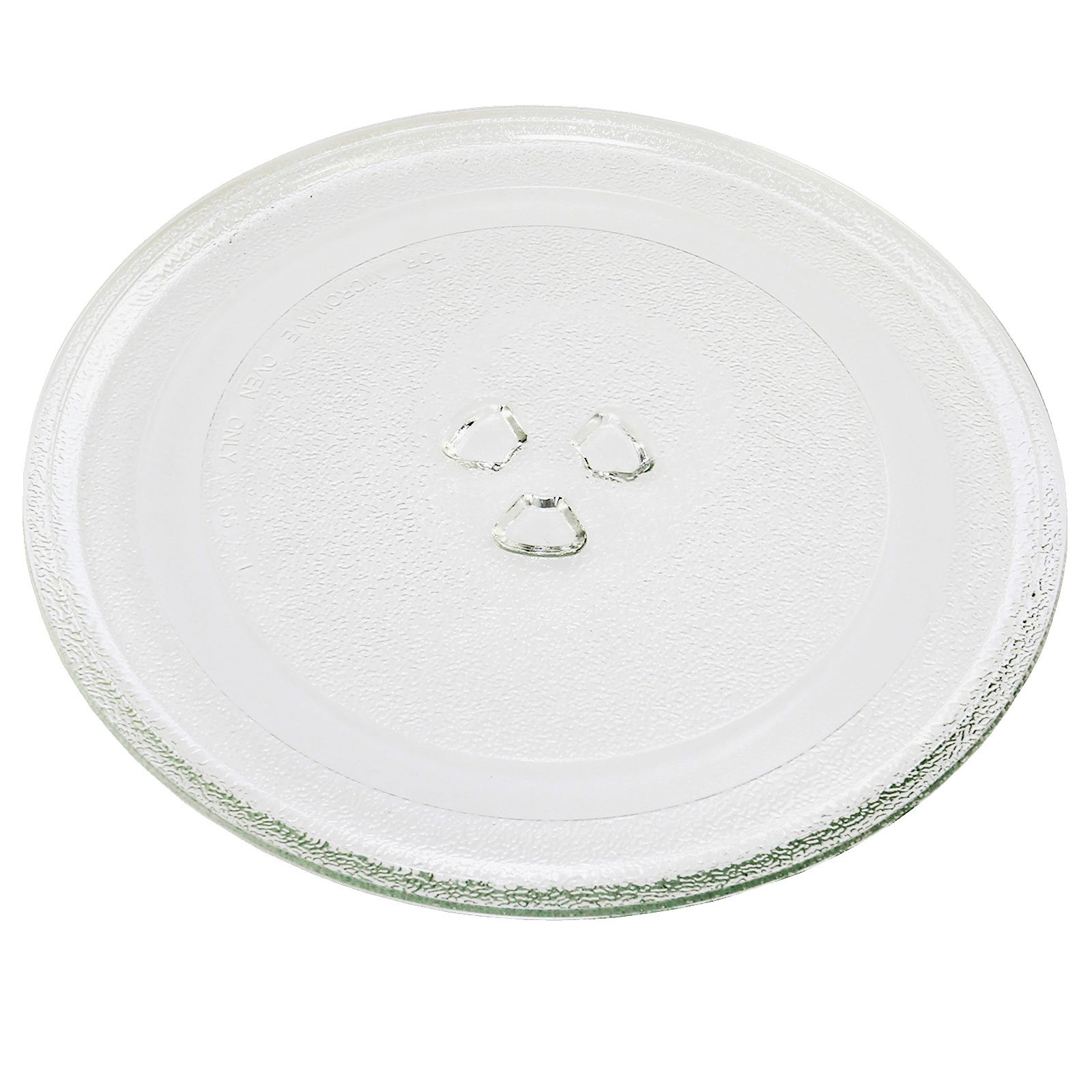 First4Spares Universal Replacement Glass 3 Fixing Turntable Plate for Microwave Ovens - 245mm (9 1/2'')