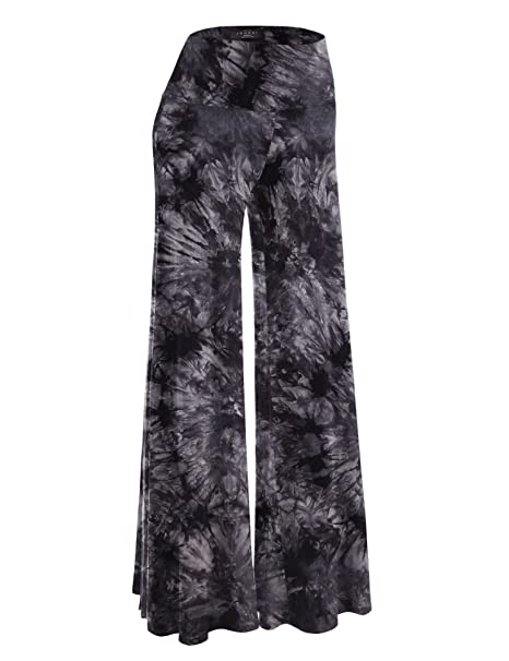 MBJ Womens Comfy Chic Solid Tie-Dye Palazzo Pants - Made in USA at ... fcb6ec214ec6