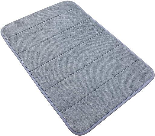 """24x16/"""" Non-slip Absorbent Soft Memory Foam Bathroom Bedroom Floor Shower Mat Rug"""