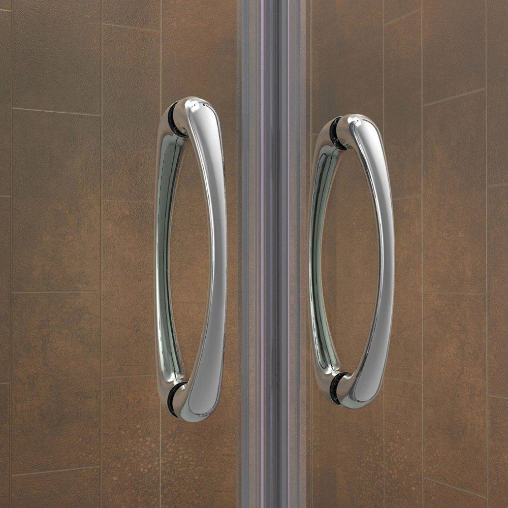 DreamLine Visions 56-60 in. Width, Frameless Sliding Shower Door, 1/4'' Glass, Brushed Nickel Finish by DreamLine (Image #6)