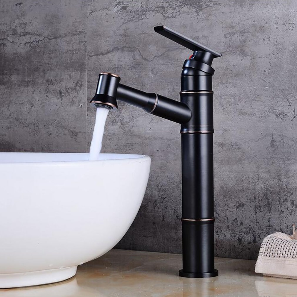 FeN Pull Down Taps,Bathroom Hot And Cold Faucet,Hotel Heightening Tap,Brass Basin Sink Mixer,Single Spout
