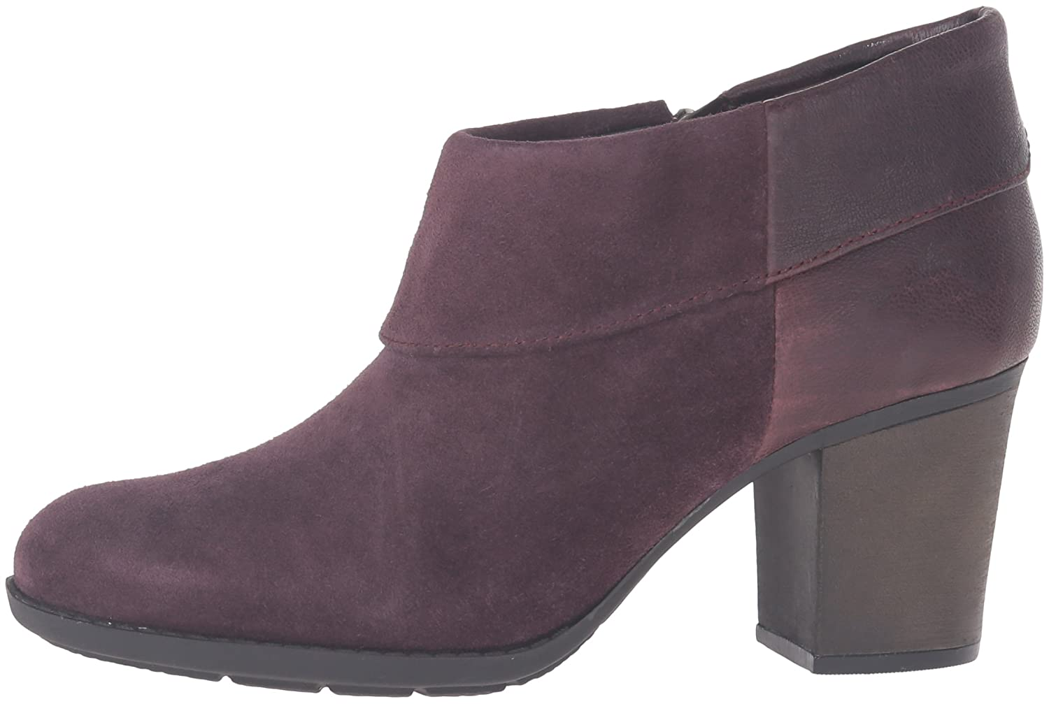 CLARKS Women's Enfield Canal Boot B0198WDQB0 10 B(M) US|Aubergine Suede