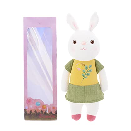 Amazon cambodia shopping on amazon ship to cambodia ship overseas me too tiramitu plush rabbit stuffed bunny baby dolls toys easter gifts gift bag negle Image collections