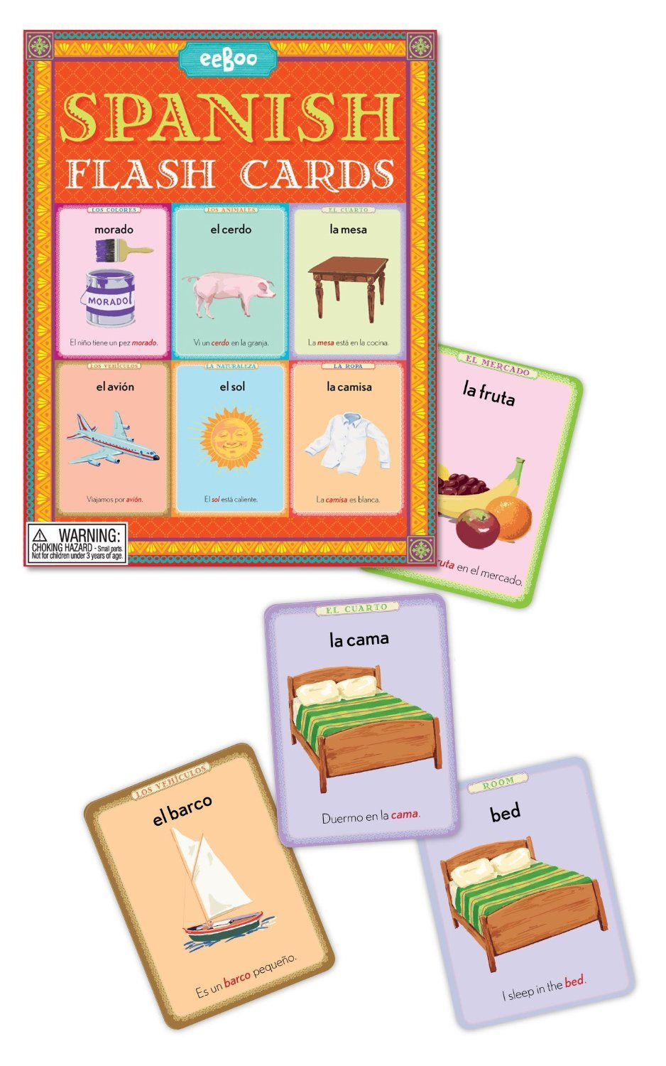 eeBoo Spanish Flash Cards SPANFL