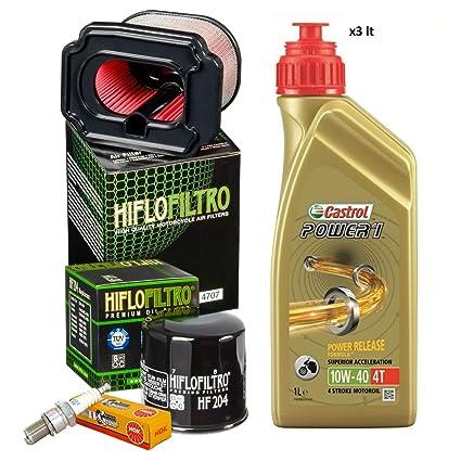 Kit revisión Castrol 10W40 filtro aceite aire bujías MT-07 jaula ...