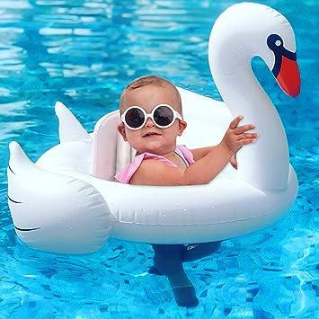 GBD Flotador para Bebé con Asiento, Cisne Blanco Flotadores ...