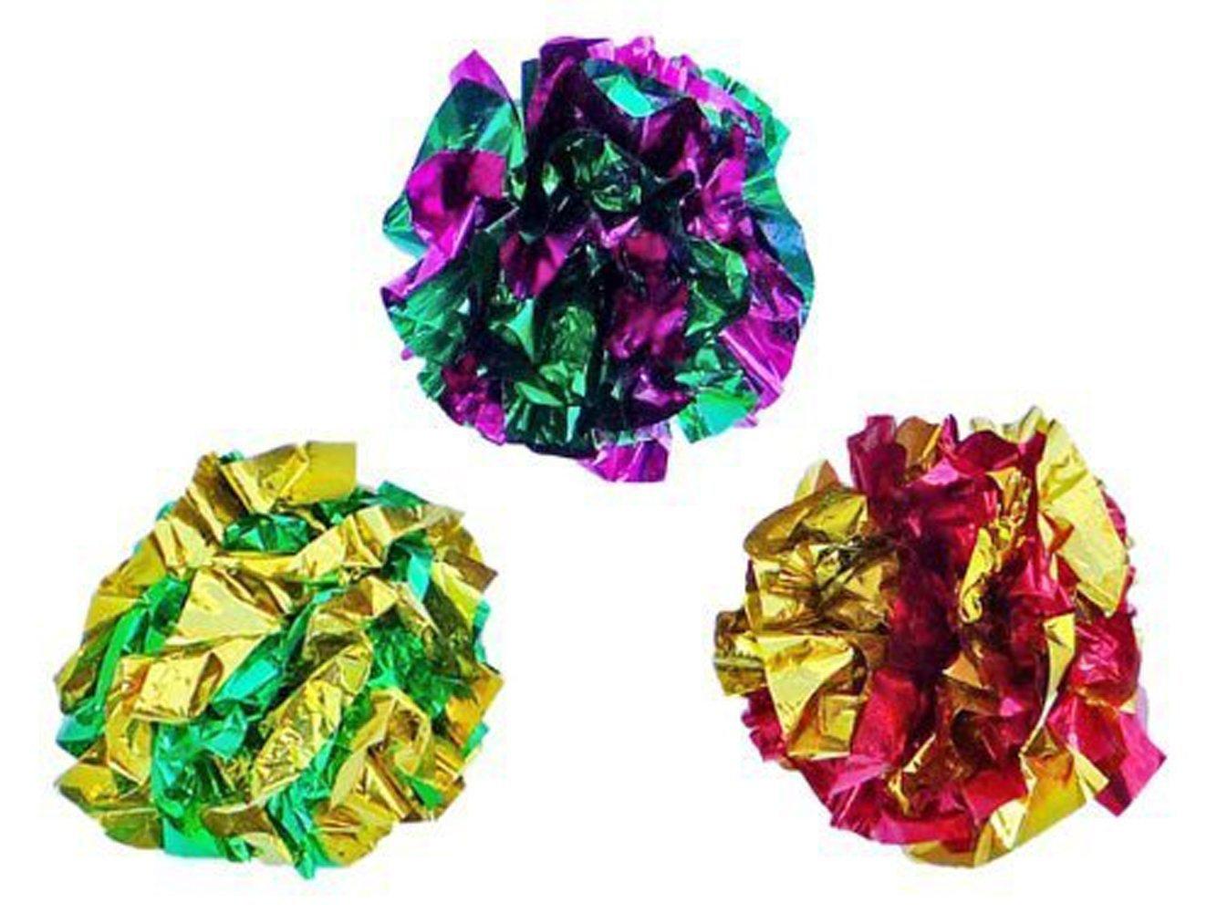 PetFavorites Original Mylar Crinkle Balls Cat Toys 3