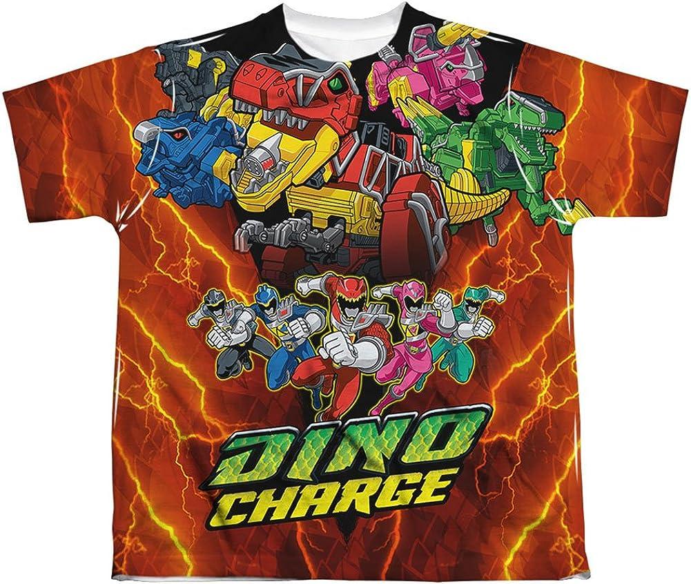 Power Rangers Childrens Cartoon TV Show Morphin' Dino Charge Big Boys Frontprint: Clothing